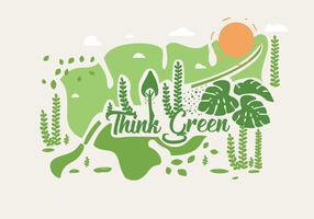 Pensez vert Poster Vol 2 vecteur