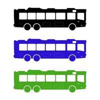 bus de la ville sur fond blanc vecteur