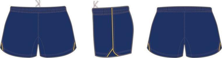 maquettes de shorts de rugby vecteur