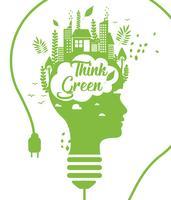 Pensez vert Poster Vol 3 vecteur