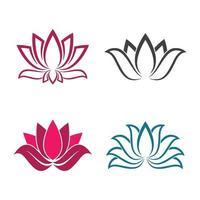 ensemble d'images de logo de lotus de beauté vecteur