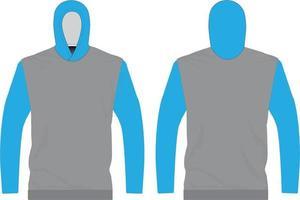 maquettes de t-shirt à capuche sublimée vecteur
