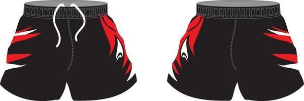 short de rugby sublimé design personnalisé vecteur