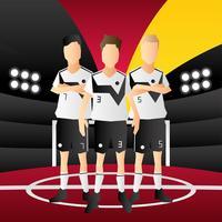 Vecteur de l'équipe Allemagne