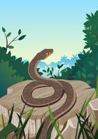 Serpent à la nature vecteur