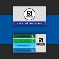 modèle de carte de visite professionnelle moderne et créative vecteur