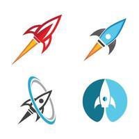 jeu d & # 39; images de logo de fusée vecteur