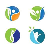 ensemble de conception d'images logo bien-être vecteur