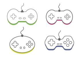 contrôleur de jeu vidéo de collection, illustration vectorielle d'icône gamepad. vecteur