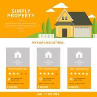 Modèle de liste de biens immobiliers vecteur