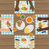 Table à diner divers vecteur