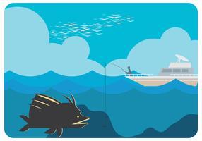 Vecteur de poisson géant de mer profonde