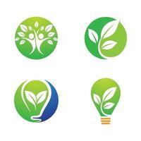 ensemble d & # 39; illustrations d & # 39; images logo écologie vecteur