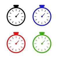 ensemble de chronomètre sur fond blanc vecteur