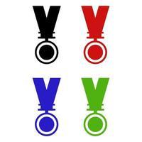 médaille sur fond blanc
