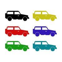 jeep sur fond blanc vecteur