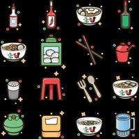 icône de vecteur de stock d & # 39; aliments indonésiens