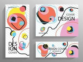 brochures abstraites aux formes colorées vecteur