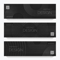 flyers avec dessin linéaire abstrait vecteur