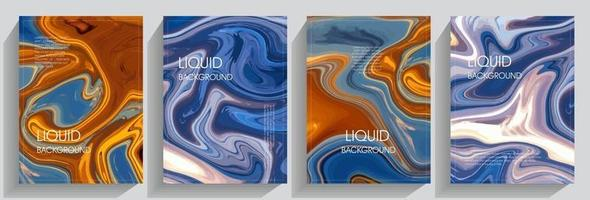 fond liquide coloré vecteur