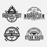 ensemble de badges et étiquettes de logos alimentaires rétro vecteur