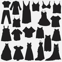 ensemble de modèles de conception de robes vectorielles vecteur