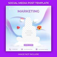 modèle de publication de médias sociaux modifiable. marketing de bannières publicitaires sur les réseaux sociaux.