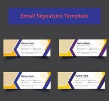 conception de modèle de signature de courrier électronique d'entreprise personnelle vecteur