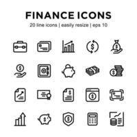 modèle d & # 39; icône de finance
