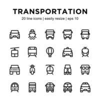 modèle d'icône de transport