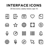 modèle d'icône d'interface vecteur