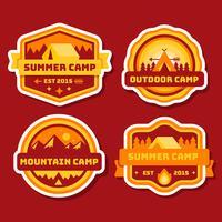 collection de patch de camping vecteur