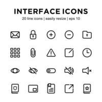 modèle d'icône d'interface