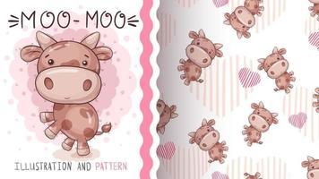vache animal de personnage de dessin animé vecteur