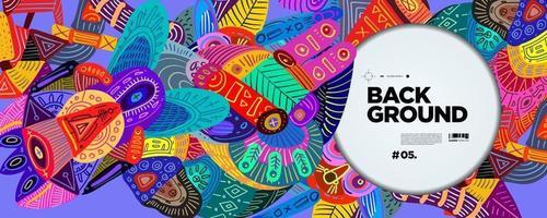 bannière de fond culturel ethnique abstrait coloré de vecteur