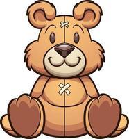ours en peluche de dessin animé vecteur
