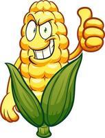 personnage de dessin animé de maïs vecteur