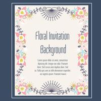 Vecteur de fond invitation florale