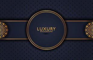 fond élégant de luxe avec élément or sur une surface sombre. mise en page de présentation d'entreprise vecteur