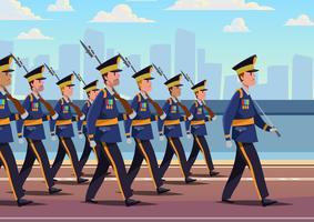 Formation de parade militaire vecteur