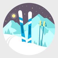 Montagnes d'hiver vecteur