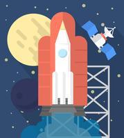 Lancement de fusée plate