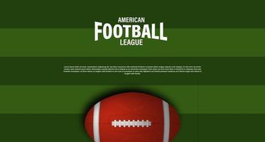 modèle de bannière affiche de football américain rugby avec ballon ovale 3d vecteur