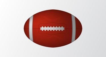 Ballon ovale 3D pour jeu de sport isolé de rugby ou de football américain vecteur
