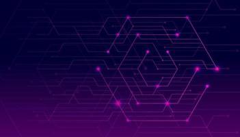 des lignes abstraites et des points relient l'arrière-plan. connexion technologique données numériques et concept de données volumineuses.