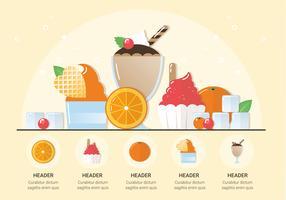 Illustration vectorielle de crème glacée fraîche