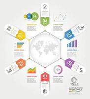 modèle d'éléments de chronologie d'entreprise. illustrations vectorielles. peut être utilisé pour la mise en page du flux de travail, la bannière, le diagramme, les options de nombre, la conception Web, le modèle infographique. vecteur