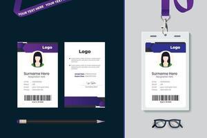 conception de modèle de carte d'identité simple vecteur