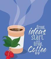 les bonnes idées commencent par une excellente conception de vecteur de café