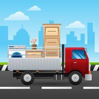Vecteur de camion de déménagement